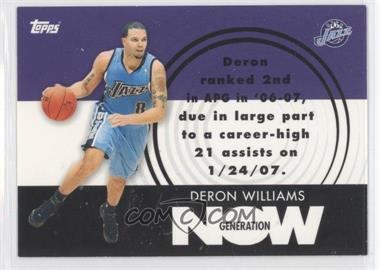 2007-08 Topps - Generation Now #GN13 - Deron Williams