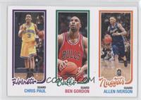 Chris Paul, Ben Gordon, Allen Iverson /99