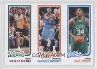 Gilbert Arenas, Carmelo Anthony, Paul Pierce /99