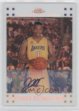 2007-08 Topps Chrome - [Base] - White Refractor Rookie Certified Autograph [Autographed] #143 - Javaris Crittenton /10