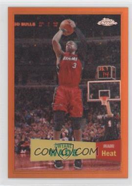2007-08 Topps Chrome 1957-58 Variations Orange Refractor #3 - Dwyane Wade /199
