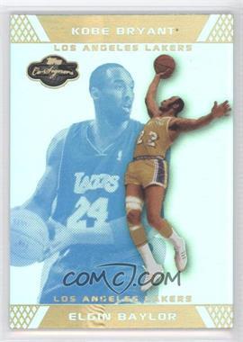 2007-08 Topps Co-Signers Gold Blue Foil #49 - Elgin Baylor /5