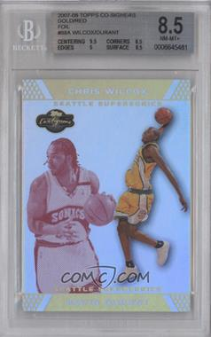 2007-08 Topps Co-Signers Gold Red Foil #88 - Kevin Durant /9 [BGS 8.5]