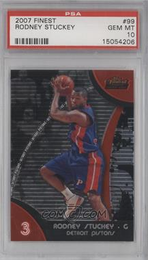 2007-08 Topps Finest - [Base] #99 - Rodney Stuckey [PSA 10]