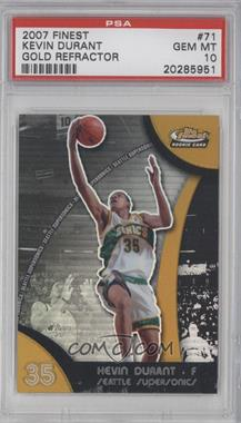 2007-08 Topps Finest Gold Refractor #71 - Kevin Durant /25 [PSA 10]