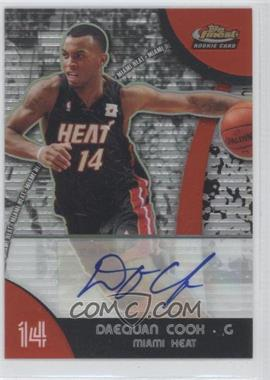 2007-08 Topps Finest Refractor Certified Autograph [Autographed] #96 - Daequan Cook