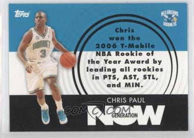 2007-08 Topps Generation Now #GN12 - Chris Paul