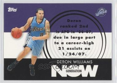 2007-08 Topps Generation Now #GN13 - Deron Williams