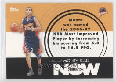 2007-08 Topps Generation Now #GN18 - Monta Ellis