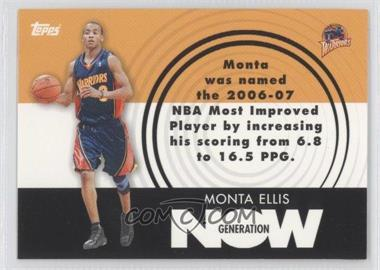 2007-08 Topps Generation Now #GN18 - Monta Ellis