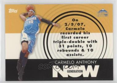 2007-08 Topps Generation Now #GN2 - Carmelo Anthony