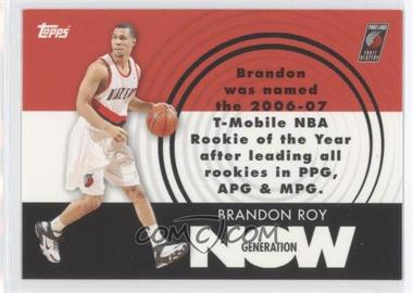 2007-08 Topps Generation Now #GN26 - Brandon Roy
