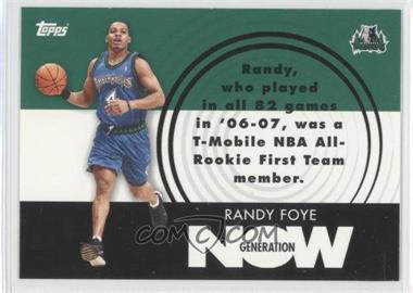 2007-08 Topps Generation Now #GN28 - Randy Foye