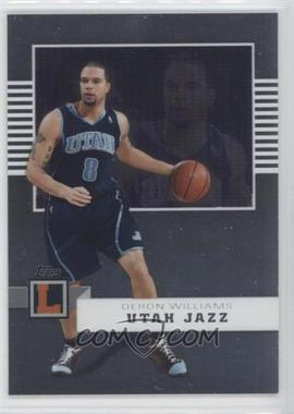 2007-08 Topps Letterman [???] #38 - Deron Williams /599