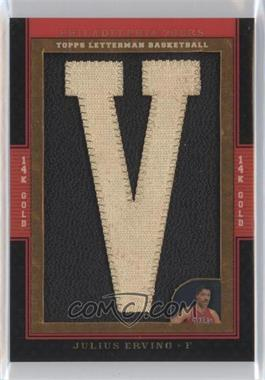2007-08 Topps Letterman 14K Gold Letterman Patches #14K-JE - Julius Erving