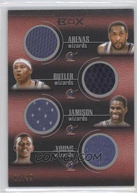 2007-08 Topps Luxury Box Quad Relics #QR-4 - Gilbert Arenas, Caron Butler, Antawn Jamison, Nick Young /99