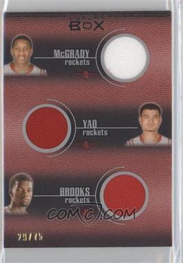 2007-08 Topps Luxury Box Six Piece Relics #LB6R-9 - Tracy McGrady, Yao Ming, Aaron Brooks, Mike Conley, Mike Miller, Rudy Gay /75