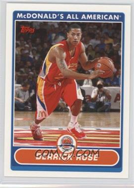 2007-08 Topps McDonald's All American - [Base] #DR - Derrick Rose