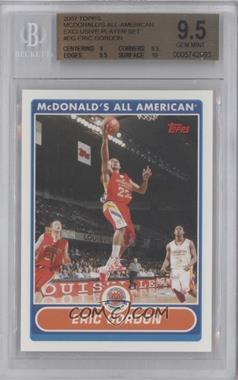2007-08 Topps McDonald's All American - [Base] #EG - Eric Gordon [BGS9.5]