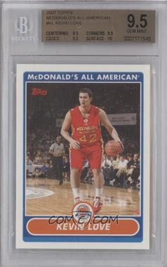 2007-08 Topps McDonald's All American - [Base] #KL - Kevin Love [BGS9.5]