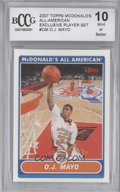 2007-08 Topps McDonald's All American - [Base] #OJM - O.J. Mayo [ENCASED]
