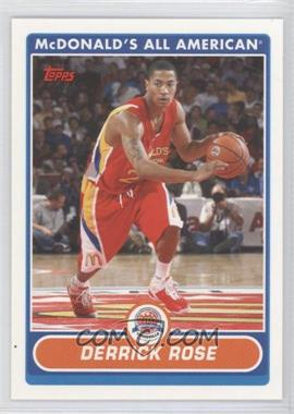 2007-08 Topps McDonald's All American #DR - Derrick Rose