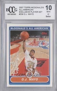 2007-08 Topps McDonald's All American #OJM - O.J. Mayo [ENCASED]
