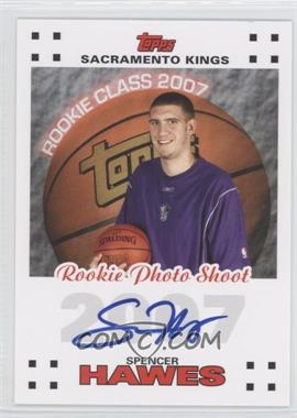 2007-08 Topps Rookie Photos Shoot Certified Autographs [Autographed] #RPA-SH - Spencer Hawes