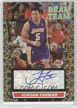 2007-08 Topps Stadium Club - Beam Team - Gold Autographs [Autographed] #BTA-JF - Jordan Farmar /25