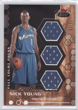 2007-08 Topps Stadium Club - Full Court Press Relics - Triple #FCPTR-NY - Nick Young /99