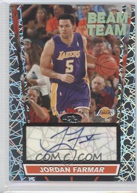 2007-08 Topps Stadium Club Beam Team Autographs [Autographed] #BTA-JF - Jordan Farmar