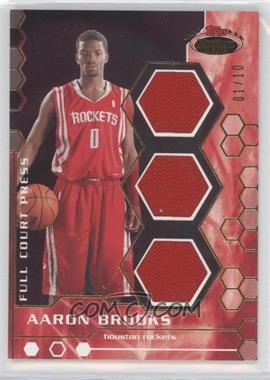 2007-08 Topps Stadium Club Full Court Press Relics Triple Gold #FCPTR-AB - Aaron Brooks /10
