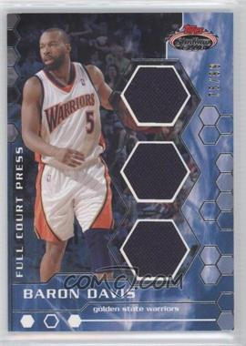 2007-08 Topps Stadium Club Full Court Press Relics Triple #FCPTR-BD - Baron Davis /99