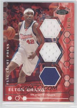 2007-08 Topps Stadium Club Full Court Press Relics Triple #FCPTR-EB - Elton Brand /99