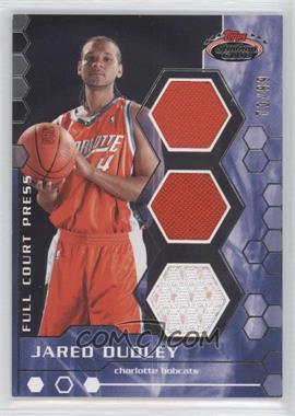 2007-08 Topps Stadium Club Full Court Press Relics Triple #FCPTR-JD - Jared Dudley /99