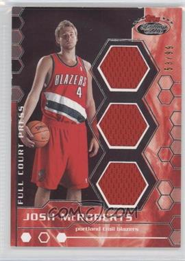 2007-08 Topps Stadium Club Full Court Press Relics Triple #FCPTR-JM - Josh McRoberts /99