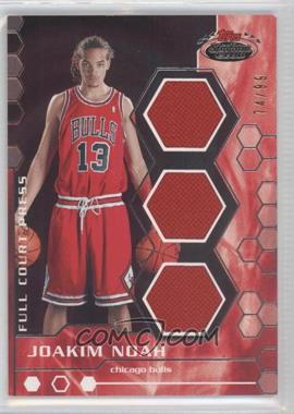 2007-08 Topps Stadium Club Full Court Press Relics Triple #FCPTR-JN - Joakim Noah /99