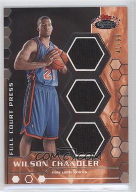2007-08 Topps Stadium Club Full Court Press Relics Triple #FCPTR-WC - Wilson Chandler /99