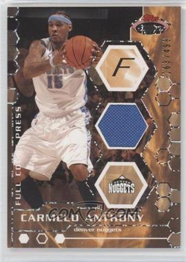 2007-08 Topps Stadium Club Full Court Press Relics #FCPR-CA - Carmelo Anthony /499