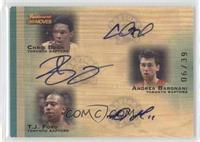 Chris Bosh, Andrea Bargnani, T.J. Ford /39