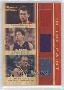 2007-08 Topps Trademark Moves Trademark Relics Triple Red In the Paint #TTR-BFF - Randy Foye, Jordan Farmar, Andrea Bargnani /50