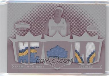 2007-08 Topps Triple Threads - Triple Relic - Printing Plate Magenta White Whale #TTR-80 - Carmelo Anthony /1