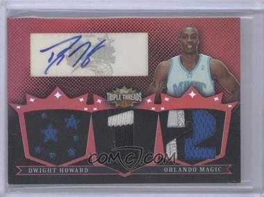 2007-08 Topps Triple Threads - Triple Relic Autograph #TTRA127 - Dwight Howard /9