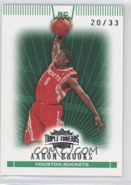 2007-08 Topps Triple Threads Emerald #114 - Aaron Brooks /33