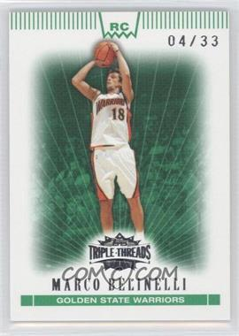 2007-08 Topps Triple Threads Emerald #115 - Marco Belinelli /33