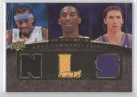 Allen Iverson, Kobe Bryant, Steve Nash /50