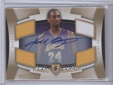 2007-08 Ultimate Collection Ultimate Leadership Autographs [Autographed] #UL-KB - Kobe Bryant /25