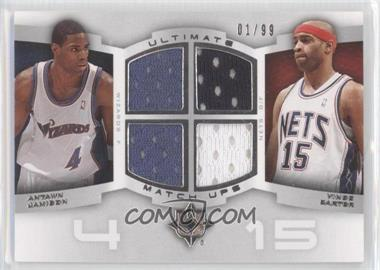 2007-08 Ultimate Collection Ultimate Match-Ups #UM-CJ - Antawn Jamison, Vince Carter /99