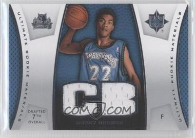 2007-08 Ultimate Collection Ultimate Rookie Materials #ULTR-CB - Corey Brewer