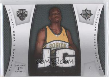 2007-08 Ultimate Collection Ultimate Rookie Materials #ULTR-JG - Jeff Green